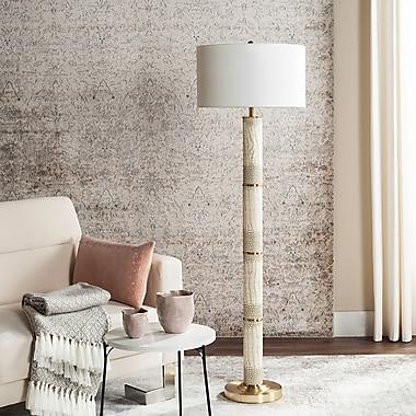 Willa Arlo Interiors Mavis 62'' Cotton Shade Floor Lamp; Cream