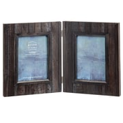 Prinz Acacia Wood Hinged Picture Frame; Black