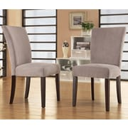 Mercer41  Wingston Parsons Chair (Set of 2); Silver Gray