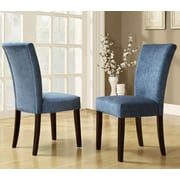 Mercer41  Wingston Parsons Chair (Set of 2); Royal Blue