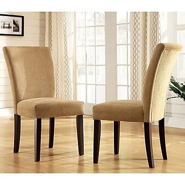 Mercer41 Wingston Parsons Chair (Set of 2); Camel