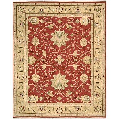 Darby Home Co Burnham Hand-Woven Red Area Rug; 5'10'' x 8'10''