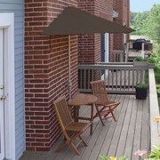 Blue Star Group Terrace Mates Bistro Economy 5 Piece Dining Set; Chocolate Sunbrella