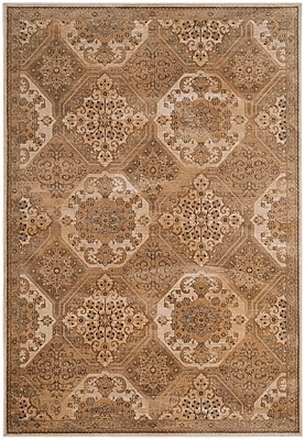 Alcott Hill Pitcairn Brown/Cream Area Rug; Square 6'