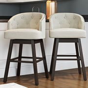 Alcott Hill Farmington 29'' Swivel Bar Stool w/ Cushion (Set of 2)