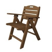 POLYWOOD  Nautical Dining Chair; Dark Teak