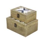 Cole & Grey 2 Piece Wood Box Set