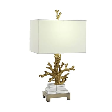 Cole & Grey Polystone 26'' Coral Table Lamp