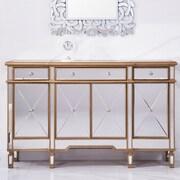 Elegant Lighting Contempo 3 Drawer 4 Door Accent Cabinet