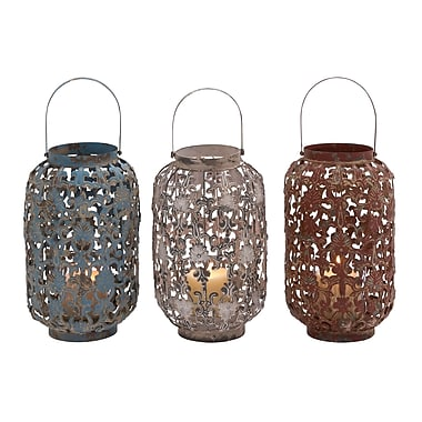Cole & Grey Ceramic Lantern (Set of 3)