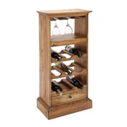 Cole & Grey Wood 9 Bottle Floor Wine Bottle Rack