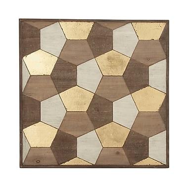 Cole & Grey Wood Plaque Wall D cor