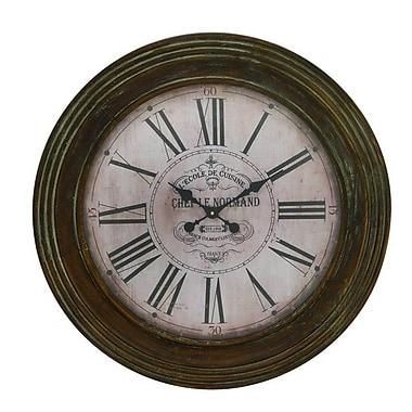 Cole & Grey Oversized Wood 31'' Wall Clock