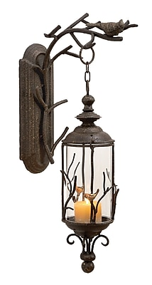 Cole & Grey Metal and Glass Lantern