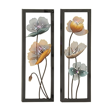 Cole & Grey 2 Piece Metal Wall Decor Set