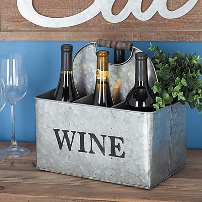 Cole & Grey Metal 6 Bottle Tabletop Wine Bottle Rack WYF078280057074