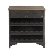 Cole & Grey Wood 18 Bottle Floor Wine Bottle Rack