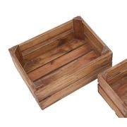 Cole & Grey 2 Piece Wood Storage Crate Set
