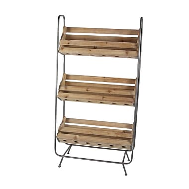 Cole & Grey Wood/Metal 18 Bottle Floor Wine Rack