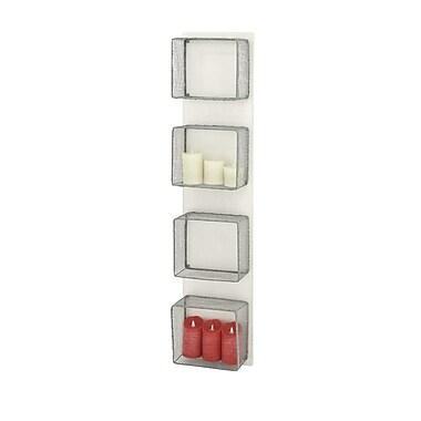 Cole & Grey Slick Wood Wall Rack Accent Shelf