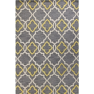 Alcott Hill Noel Hand-Tufted Grey Area Rug; 5' x 7'6''