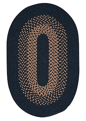 Alcott Hill Lionel Blue Moon Braided Area Rug; Oval 4' x 6'