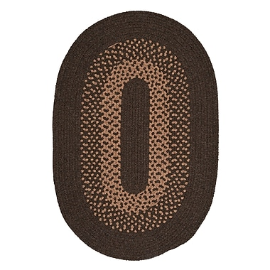 Alcott Hill Lionel Roasted Brown Area Rug; Oval 4' x 6'