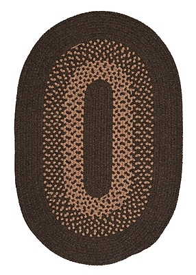 Alcott Hill Lionel Roasted Brown Area Rug; Oval 10' x 13'