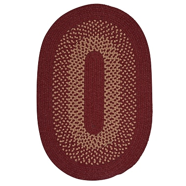 Alcott Hill Lionel Holly Berry Area Rug; Oval 5' x 8'