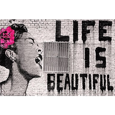 Latitude Run 'Life Is Beautiful' by Banksy Graphic Art Print on Wrapped Canvas