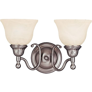 Alcott Hill Kerrigan 2-Light Bath Vanity; Satin Nickel