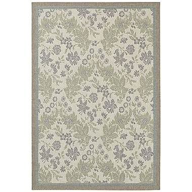August Grove Avallon Champagne Indoor/Outdoor Area Rug; Runner 2'3'' x 11'9''