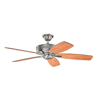 Alcott Hill 52'' Carruthers 5-Blade Fan; Burnished Antique Pewter