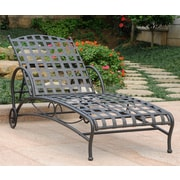 Alcott Hill Schilling Chaise Lounge; Antique Black