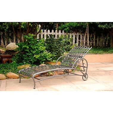 Alcott Hill Schilling Chaise Lounge; Pewter