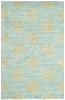 Alcott Hill Backstrom Hand-Tufted Turquoise Area Rug; 8'3'' x 11'
