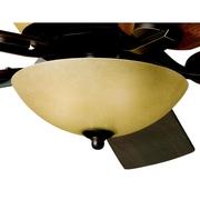 Alcott Hill Smithshire 3-Light Bowl Fan Light Kit; Olde Bronze Walnut Cherry