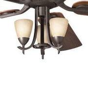 Alcott Hill Smithshire 3-Light Branched Fan Light Kit; Olde Bronze Walnut Cherry
