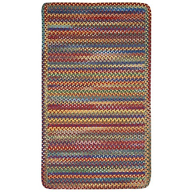 August Grove Phoebe Bright Multi Rug; Cross Sewn 7' x 9'