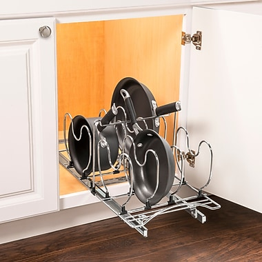 Lynk Lynk Professional Roll Out Cookware Organizer Pull Out Under Cabinet Sliding Rack