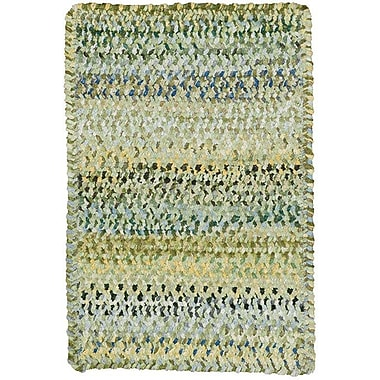 August Grove Wilhelmine Pale Green Area Rug; Cross Sewn 9'2'' x 13'2''