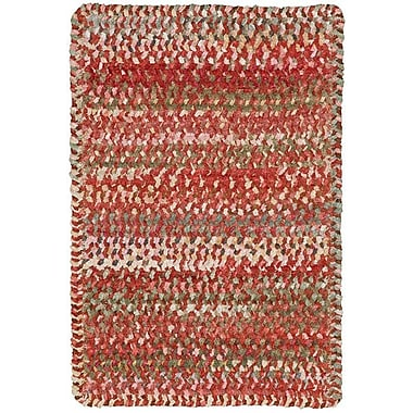 August Grove Wilhelmine Orange Area Rug; Cross Sewn 1'8'' x 2'6''