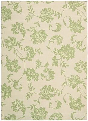 Alcott Hill Sigel Light Green/Ivory Indoor/Outdoor Area Rug; 10' x 13'