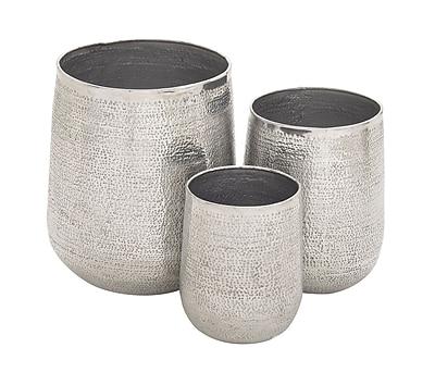 Cole & Grey 3-Piece Aluminum Pot Planter Set