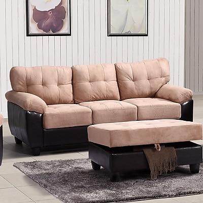Alcott Hill Old Westbury Sofa; Mocha