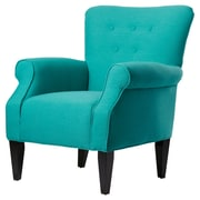 Alcott Hill Delia Button Back Arm Chair; Mallard Teal