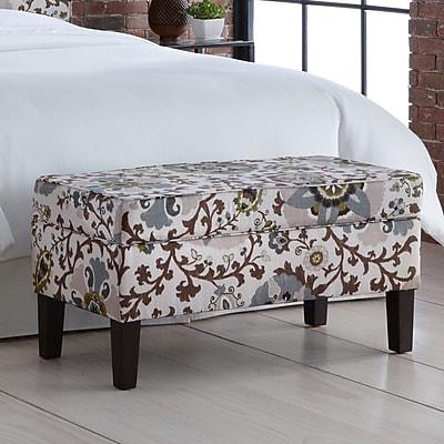Alcott Hill Thurston Upholstered Storage Bench; Silsila