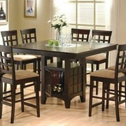 Alcott Hill Melvin Counter Height Dining Table; Rich Dark Cappuccino