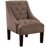 Alcott Hill Mystere Tufted Swoop Arm Chair; Cocoa
