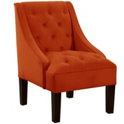 Alcott Hill Mystere Tufted Swoop Arm Chair; Mango
